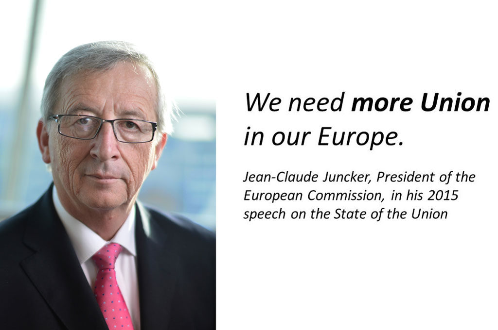 Portrait photo of Jean-Claude Jucker, President of the European Commission
